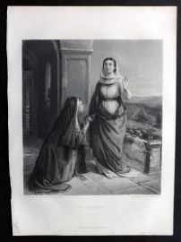 After Elizabeth Thompson C1870 Art Journal Print. The Visitation